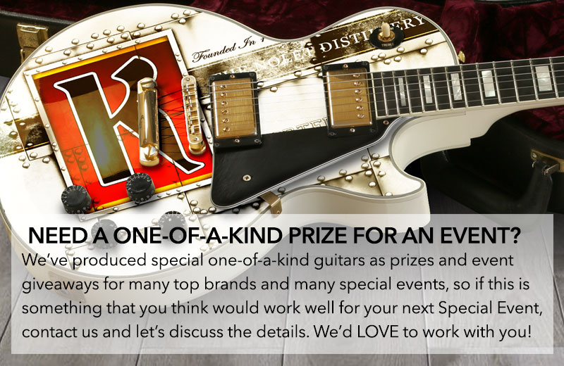 INZANE SKINS Produces Amazing Event Guitars For Prizes and Giveaways