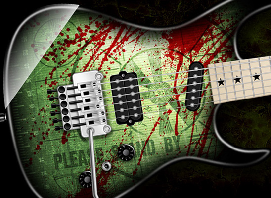 INZANE SKIN Custom Shop Can Create Your DREAM GUITAR!